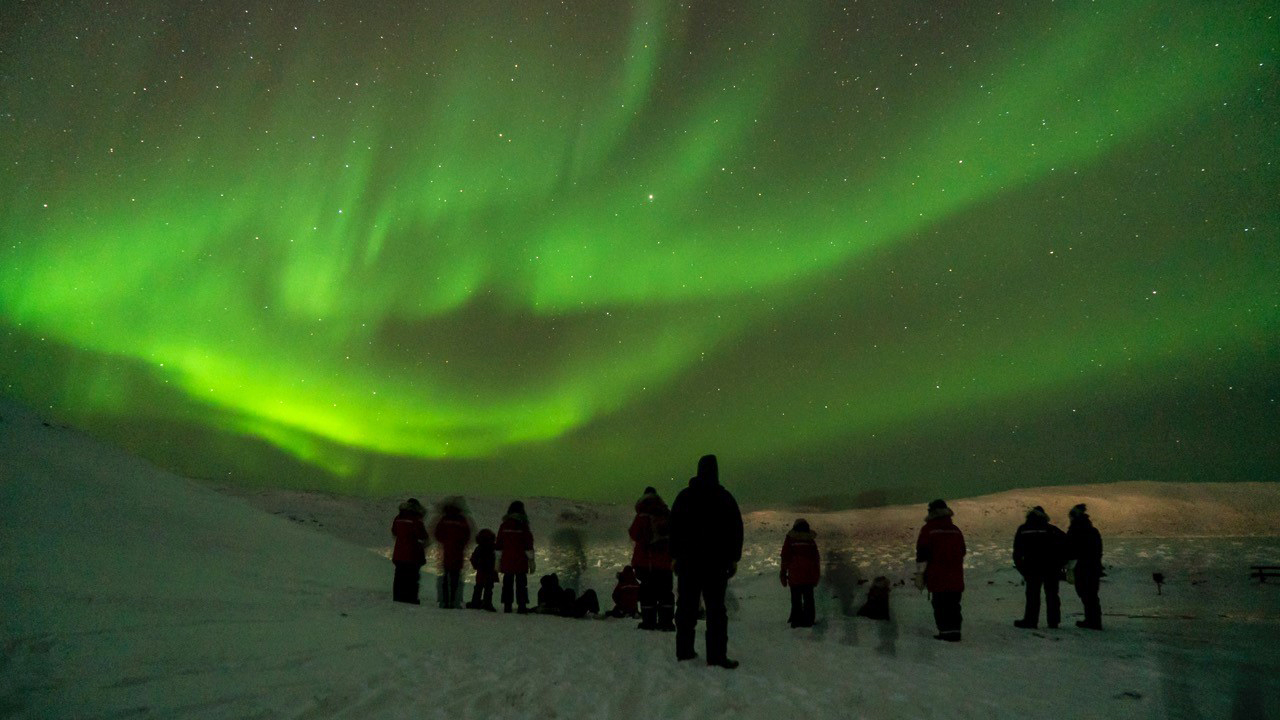Sentinel North International Arctic Field School - Northern Lights near Iqaluit