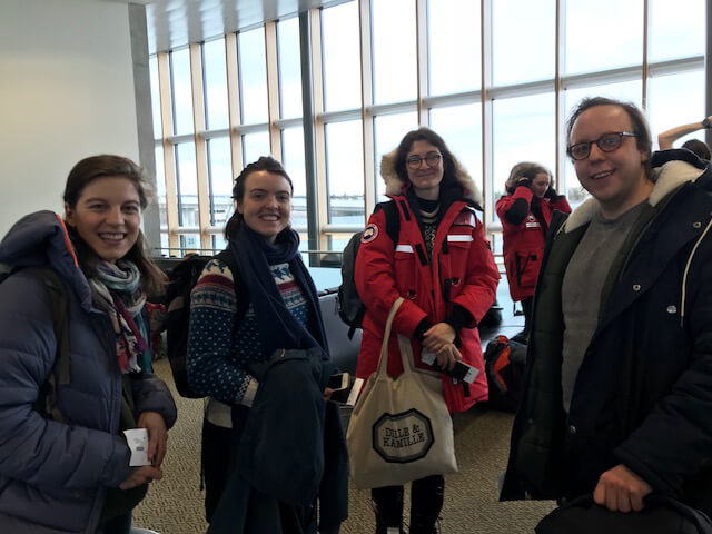 Sentinel North International Arctic Field School - Students at the airport