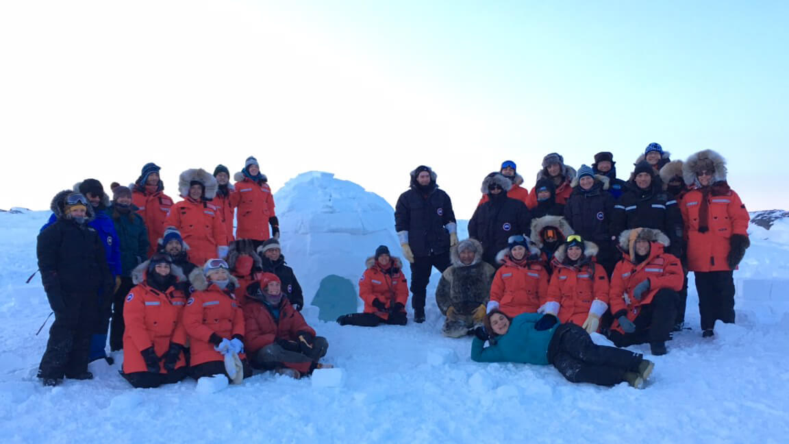 Sentinel North International Arctic Field School - Group picture near Iqaluit
